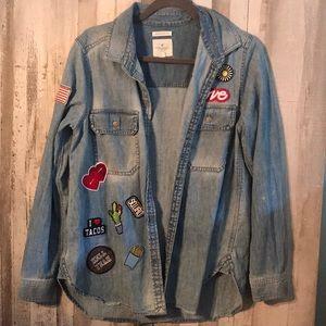 American eagle denim jacket/shirt